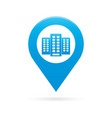 building map pointer icon marker gps location vector image