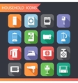 Flat Household Icons and Symbols Set vector image