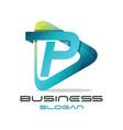 letter p media logo vector image