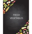 Set of watercolor vegetables vector image