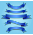 Set ribbon blue vector image