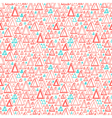 Triangle shapes pattern vector image