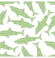 Typography lettering shark pattern vector image