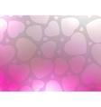 Valentine hearts pink StValentines day EPS 8 vector image