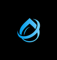 water drop aqua abstract logo vector image