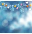 Christmas card invitation Winter garden party vector image