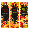 fast food restaurant banners vector image