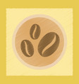 flat shading style icon coffee beans logo vector image