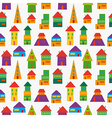 Cute house pattern vector image