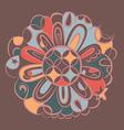 fantasy bronze mandala vector image