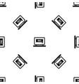 button sale on laptop pattern seamless black vector image
