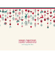Merry Christmas hanging elements decoration vector image
