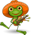 Frog with Guitar vector image