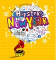 Funky greeting card vector image vector image