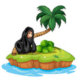 A gorilla in the island vector image vector image