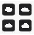 modern cloud icons set vector image