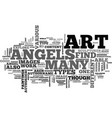 angels and demons text word cloud concept vector image