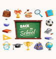 back to school composition poster vector image