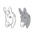 cute draw donkey vector image