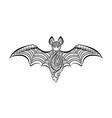 Decorative bat vector image