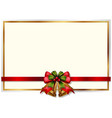 frame design with christmas bells vector image