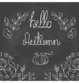 Hello Autumn Card with lettering vector image