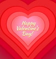 valentine day heart greeting card template vector image