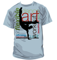 Yoga T-shirt vector image