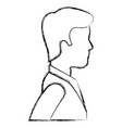young man profile avatar character vector image
