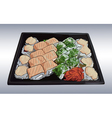 2Japanese traditional cuisine food vector image