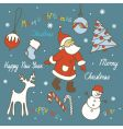 christmas elements vector image