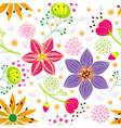 Spring Summer Colorful Flower Seamless Pattern vector image vector image