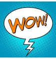 Wow comic bubble word vector image