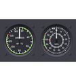 Helicopter airspeed indicators vector image