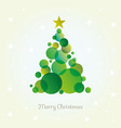 abstract christmas tree card made from green vector image