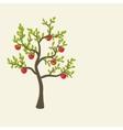 apple tree background vector image