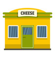cheese shop icon flat style vector image