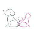 dog and cat minimalist vector image
