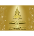 golden card - merry christmas and happy new year vector image