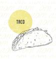 hand drawn taco vector image