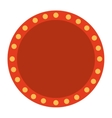 label lights show cinema icon vector image