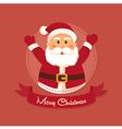 Santa Merry Christmas in Circle vector image