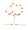 Tree Symbol Made from Matches vector image