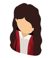 woman avatar isometric isolated vector image