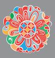 fantasy color mandala vector image vector image