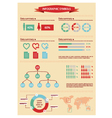 Detail infographic with human figurines vector image