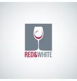 wine glass design background vector image