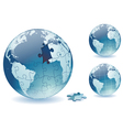 planet earth from puzzles vector image vector image