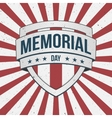 Memorial Day big patriotic Shield Sign vector image