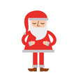 christmas santa claus standing character vector image